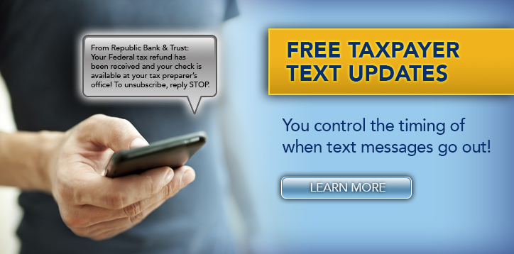 Free Taxpayer Text Updates